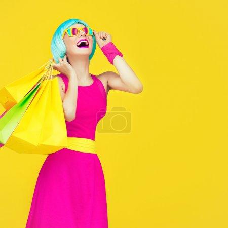 rot farben gelb blau bunt einkaufen