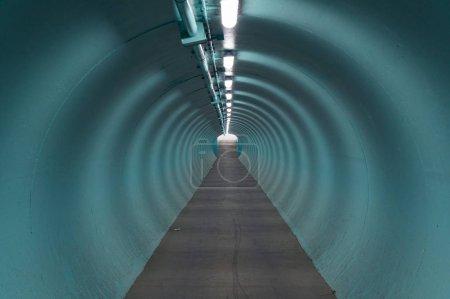 blau runde licht industrie ende futuristisch
