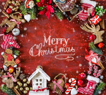 Rot, Hintergrund, Design, Feier, Weihnachten, Dekoration - B308666234