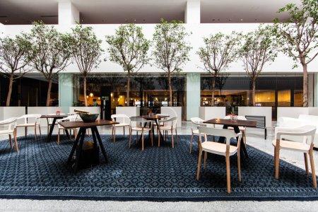 Tisch, weiß, niemand, Design, Glas, Luxus - B293231806