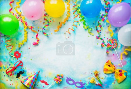 Spaß, Unterhaltung, Hintergrund, farbenfroh, horizontale, Design - B237376084