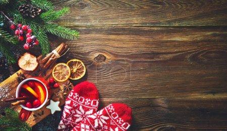 Tisch, rot, Hintergrund, Glas, Feier, Weihnachten - B228015220