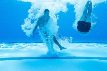 schwimmbad freizeit spass unterhaltung blau hintergrund