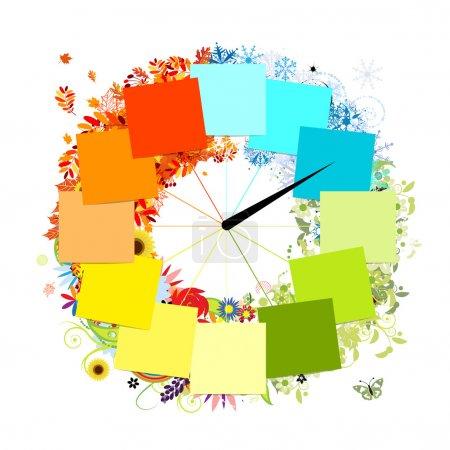 grün, Rot, Vektor, Hintergrund, Element, Illustration - B10765420