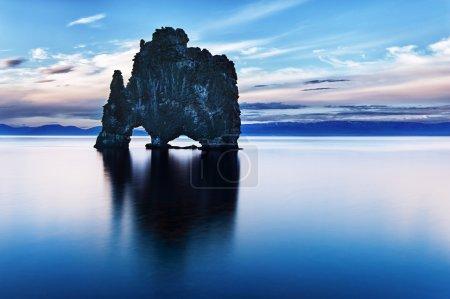 blau runde stein himmel reflexion natur