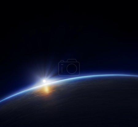 Sphäre, Licht, blau, Hintergrund, Rendern, Ansicht - B4958937