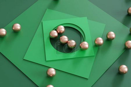 grün, Sphäre, Hintergrund, Ball, Grafik, Illustration - B468891842