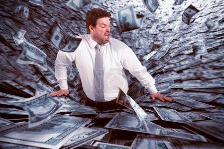Geld, Unternehmen, Finanzen, Gefahr, Herbst, schwarz - B90957624
