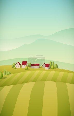 grün, Vektor, Hintergrund, Illustration, Himmel, Saison - B52817863
