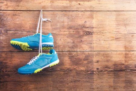 sport blau hintergrund ansicht kleidung gesund