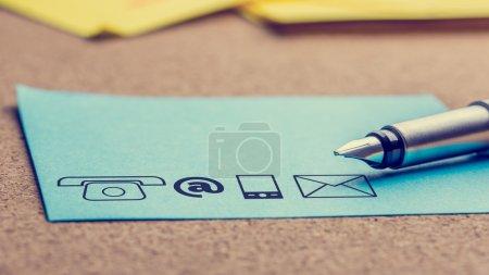 Tisch, Blau, Papier, Unternehmen, Kunde, Zeichen - B67827883