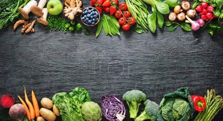 Tisch, grün, Hintergrund, Markt, Frisch, Blatt - B458513750