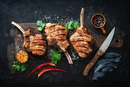 Rot, Hintergrund, Frisch, Rindfleisch, Fleisch, Messer - B460764720