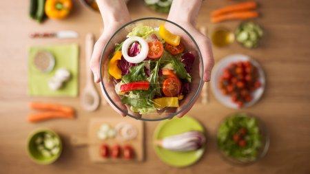 Tisch, Halten, Gesund, Lebensmittel, Küche, Holz - B76397865