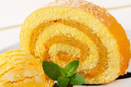 gelb, weiß, Ball, Detail, Lebensmittel, Kuchen - B77848966
