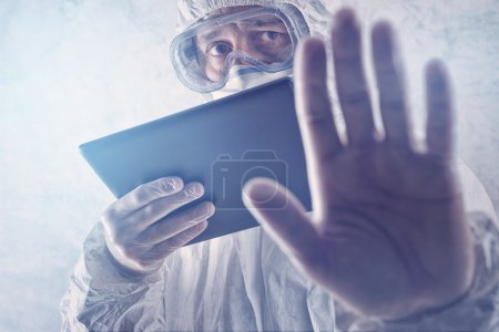 Computer, Medizin, Atemwege, Krankheit, medizinisch, Mann - B75151727
