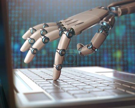 Computer, künstlich, Unternehmen, Mensch, Technologie, Hand - B95045118