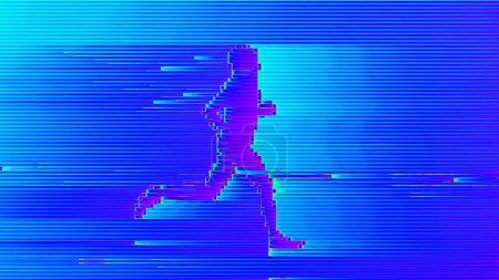 Sport, Wettbewerb, Blau, Hintergrund, Person, Menschen - B442564150