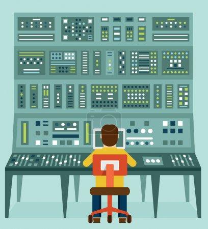 Vektor, Illustration, Unternehmen, Ausrüstung, Anlage, Vorstand - B55164017