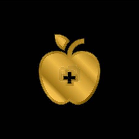 Vektor, Metall, gold, Liebe, Gesundheit, Apfel - B470790444