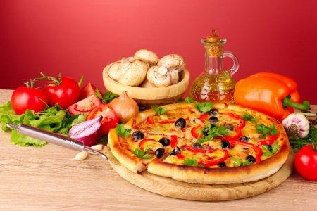 grün, Rot, Hintergrund, Freude, Fleisch, Lebensmittel - B6797803