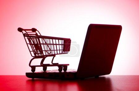 weiss computer hintergrund nahaufnahme einkaufen konsumdenken