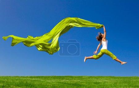 grün, Farbe, Aktivität, Spaß, Himmel, Schön - B5064791