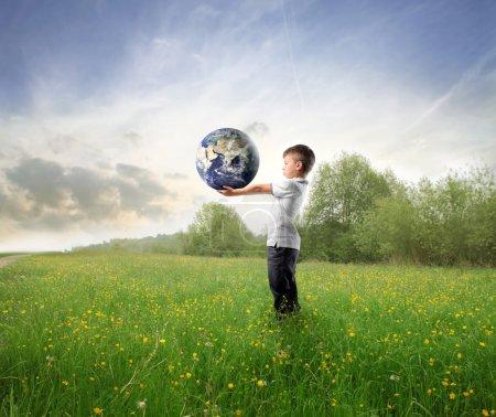 grün, Himmel, Unternehmen, kaufen, Halten, jung - B3857837