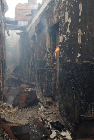 Risiko, Licht, Gefahr, Rauch, Gebäude, Verbrennen - B2741494