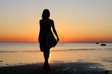 Himmel, Reflexion, Single, Eine, Mädchen, Weiblich - B6074313