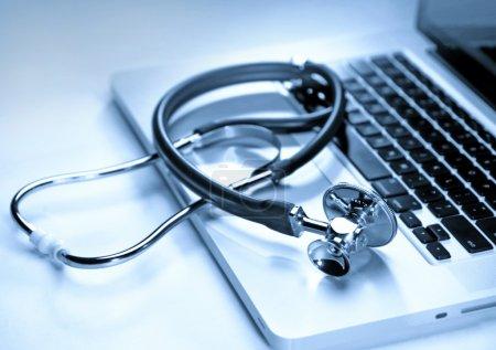 Blau, Computer, Nahaufnahme, Ausrüstung, Gesundheit, Krankheit - B6196215
